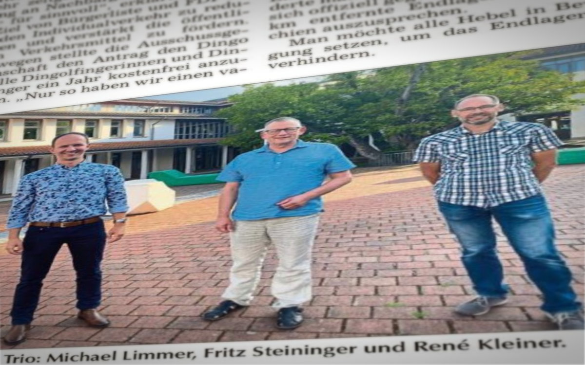 v.l. Michael Limmer, Fritz Steininger, René Kleiner